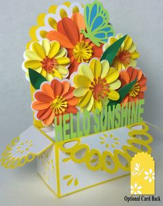 Sunshine Bouquet Card In A Box 3D SVG by MyCasualWhimsy on Etsy https://www.etsy.com/listing/232038959/sunshine-bouquet-card-in-a-box-3d-svg