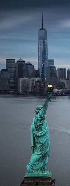 Statue of Liberty, New York City, USA ✈✈✈ Here is your chance to win a Free Roundtrip Ticket to anywhere in the world **GIVEAWAY** ✈✈✈ https://thedecisionmoment.com/free-roundtrip-tickets-giveaway/