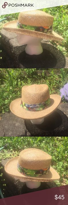 RARE Vintage Panama Jack Straw Hat w/ Parrot Band RARE Vintage 70's Panama Jack 100% Straw Hat w/ Green Jungle themed Band w/ Parrots. You can't find this particular hat anywhere but here. In mint condition. Fits a Small/Medium. Could work for a woman too. Price Firm! Bundle & Save! Panama Jack  Accessories Hats