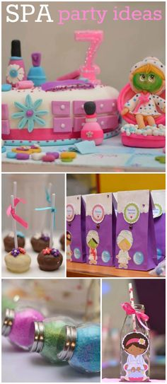 What a great idea for a girl birthday - a spa party! See more party ideas at CatchMyParty.com!
