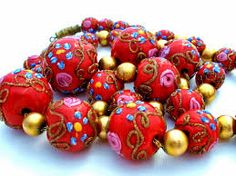 Image result for old antique wedding cake bead necklace