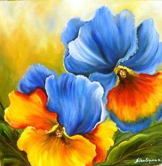 Lindissímo.....  tela pintada por Núbia Siqueira