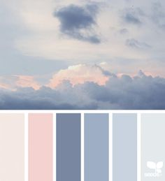Cloud colors- great soft colors for baby room.