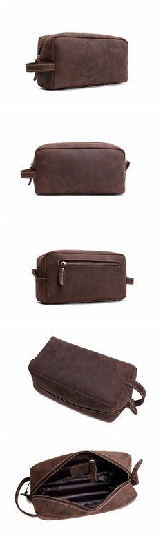 Leather Clutch/Men's Clutch/Travel Wallet