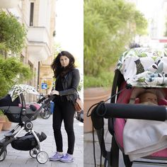 Olga & Mila spotted on the road with magic jungle...#city mom, #munich mom, #city style, #mom in style, #stylish mom, #millemarille