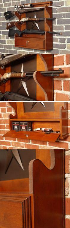 Racks 73961: Wooden Gun Rack Racks For Wall Mount Wood Display Rifle Locking Storage Gift New -> BUY IT NOW ONLY: $109.95 on eBay!