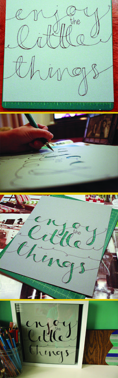 How To: Cutout Fake Calligraphy | laura frances design blog