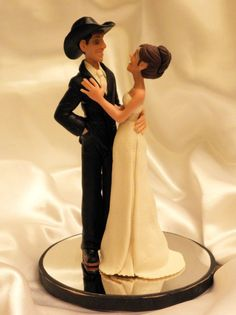 Cowboy wedding cake topper