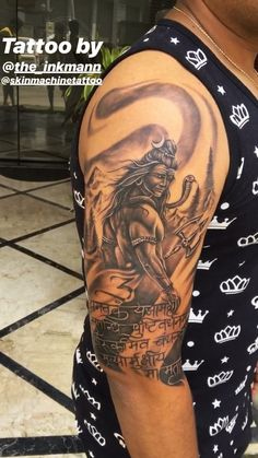Lord Shiva Tattoo - Got a chance to do this again, my most popular Lord Shiva custom Tattoo series. Thanks to the Client - Buddhist Symbol Tattoos, Hindu Tattoos, God Tattoos, Buddha Tattoos, Band Tattoos For Men, Cool Tattoos For Guys, Indian Tattoos For Men, Hanuman Tattoo, Ganesha Tattoo