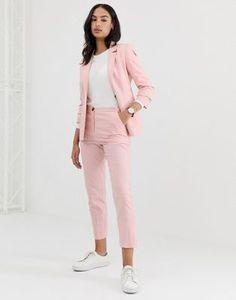 a9d89f7e91 ASOS DESIGN Linen Clean Cigarette Pants Conservative Work Outfit