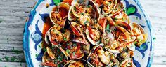 Clams with Sherry and Serrano Ham   Seafood Recipes