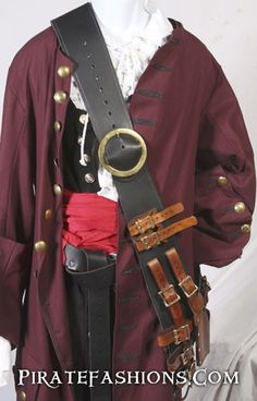 Pirate Captain's Leather Baldric – Pirate Fashions $275, but yum