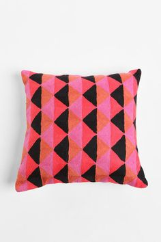 Crewel Prism Pillow, Urban Outfitters. Only in this one color combo, unfortunately (neat looking but doesn't go with my living room).