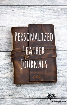 Personalize your own leather journal!