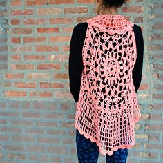 This circular vest makes a great layering piece for a breezy bohemian look…