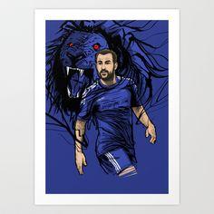 Football Stars: Cesc Fabregas - Chelsea Art Print by Akyanyme - $15.60