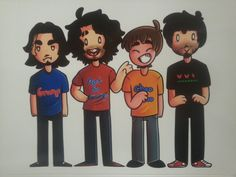"""Game Grumps  stickers! Arin, Barry, Danny and Ross - Set of 4 High Quality 4"""" Weather Proof Stickers! by ArtbyEdlynn on Etsy"""