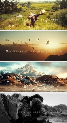 Irish blessing and The Hobbit. Le Hobbit Thorin, Bilbo Baggins, Gandalf, Legolas, Jrr Tolkien, Into The West, An Unexpected Journey, Irish Blessing, One Ring