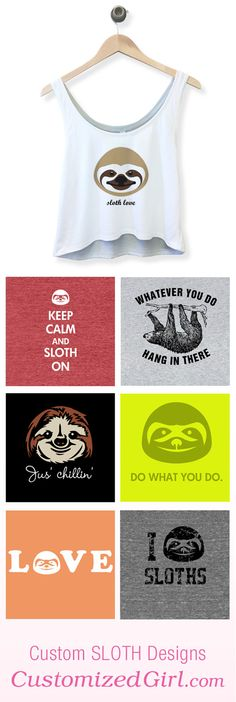 Sloth Shirts and Tanks #sloths #sloth #slothshirt #slothtanktop