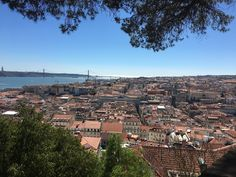 Orange roofs of Lisbon - view from the castle.