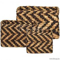 "Lifestyle94-Lifestyle Palm Basket Zigzag Rectangular S/3 (125468/125469/125470) 125467 <span style=""font-size: 6pt;""> Korf-Mand-Opbergmand-panier-de-rangement-Basket-korb-Lagerkorb </span>"