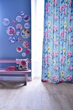 Be ENTHRALLED by the beautiful hand-painted florals and vivid colours of the season. TRANSFORM your living space into a DREAMY summer garden with these fabrics…Fabrics from James Dunlop, Rhapsody Collection,Goodrich.(*Product available via Project Registration basis)