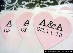 108 custom initials and wedding date heart by azulturquesa on Etsy, $6.00