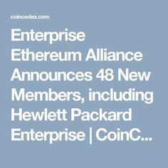 Enterprise Ethereum Alliance Announces 48 New Members, including Hewlett Packard Enterprise Hewlett Packard, Blockchain Technology, Social Science, Cryptocurrency, News, Social Studies