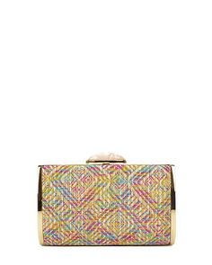 Badgley Mischka Melinda Straw Hard Case Clutch, now available at the official website. Free shipping, exchanges, and returns.