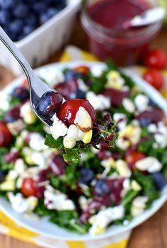 Best of Summer Kale Salad | iowagirleats.com