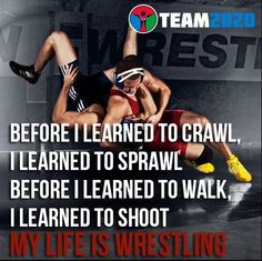 Before I learned to crawl, I learned to sprawl. Before I learned to walk, I learned to shoot. My life is wrestling. My poor kids. Golf Quotes, Funny Quotes, Qoutes, Wrestling Rules, College Wrestling, College Football, Golf Fashion, Football Players, Kids Playing