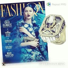 Dazzling in black and gold, our art deco style Afternoon Ring was featured on the cover of @Fashion Quarterly Magazine #SwarovskilookDazzling in black and gold, our art deco style Afternoon Ring was featured on the cover of @fashionquarterly Magazine #Swarovskilook