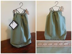 Hunter green pillowcase dress by VintageSkys on Etsy, $15.00