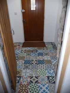 Patchwork Encaustic tiles in porch