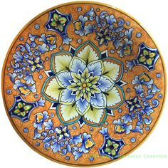 Hand Painted Ceramic Plate | 25cm