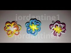 NEW** Rainbow Loom TWO-COLOR FLOWER FUN CHARM. (Not the same as the Starburst or Butterfly Blossom charm.) To connect several charms into a bracelet, see the FLOWER FUN CHAIN BRACELET video. - YouTube