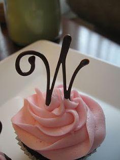 Occasional Cookies: Monogram Cupcake