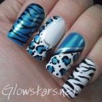 Blue animal  | See more nail designs at http://www.nailsss.com/acrylic-nails-ideas/3/