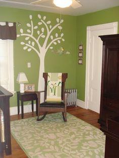 3. #Green & Brown - 13 #Trendy Nursery Color #Scheme Ideas ... → #Parenting #Nursery