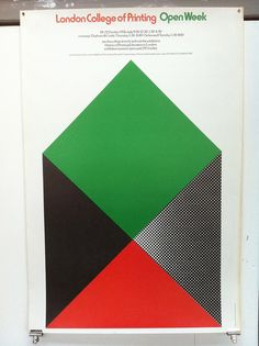 London College of Printing Open Week poster design by Simon Goode, via Flickr