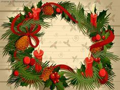 Christmas Wreath HD Wallpaper