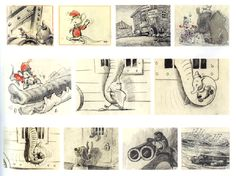 Bill Peet, Disney Animator. Storyboard.