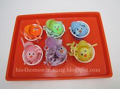 H is for Homeschooling: Easter Tot Trays