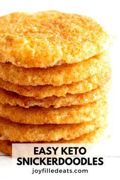 Keto Snickerdoodles are indulgent, delicious, and are sugar-free! Enjoy these soft, buttery snickerdoodles for any occasion. They happen to be keto, low-carb, gluten-free, and grain-free too.
