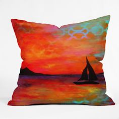 Sophia Buddenhagen Sail Away With Me Throw Pillow | DENY Designs Home Accessories