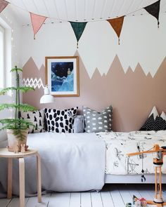 We all know how difficult it is to decorate a kids bedroom. A special place for any type of kid, this Shop The Look will get you all the kid's bedroom decor ide Girl Room, Girls Bedroom, Bedroom Decor, Bedroom Lighting, Modern Bedroom, Bedroom Wall, Bedroom Ideas, Modern Spaces, Kid Spaces