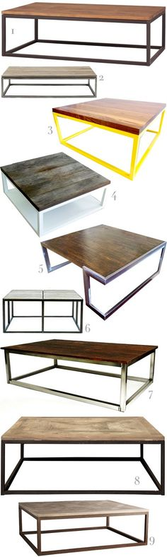 Coffee Tables...@Rande Hackmann....could you make something like this??