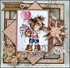 My Crafty Heart: Amy - Wee Stamp £5.90