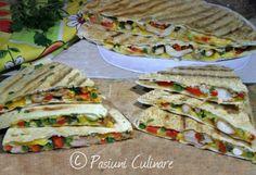 Quesadilla cu pui aromat Quesadilla, Sandwiches, Tacos, Mexican, Drink, Ethnic Recipes, Food, Beverage, Quesadillas