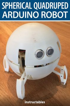 This spherical quadruped Arduino robot has two articulations by leg. On standby mode it looks like a sphere and then transforms into a quadruped to move. Diy Electronics, Electronics Projects, Arduino Bluetooth, Paper Robot, Super Cool Stuff, Diy Robot, Computer Build, Robots For Kids, Technology World